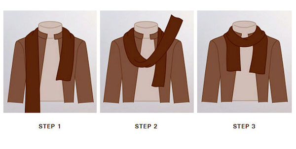 Stepwise guide to wear mens aviator silk neck scarf with a casual outfit.