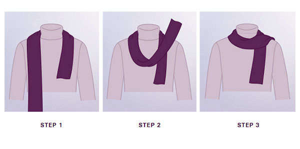 Stepwise guide to wear mens aviator silk neck scarf with a smart casual outfit.