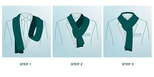 Stepwise guide to wear mens aviator silk neck scarf with a custom-made suit.